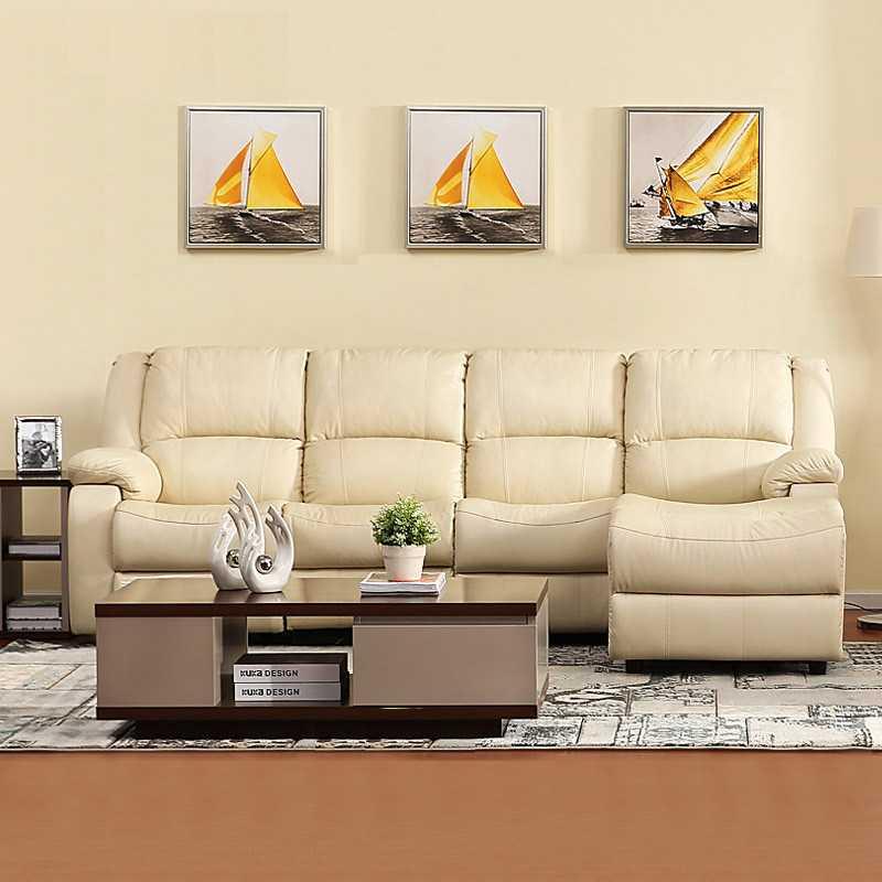 家庭影院多功能休闲头等舱真皮沙发组合 简约现代客厅牛皮太空舱P1603|客厅,卧房,书房,办公室哪里都缺它(默认三人+贵妃位,其他配置请咨询客服)