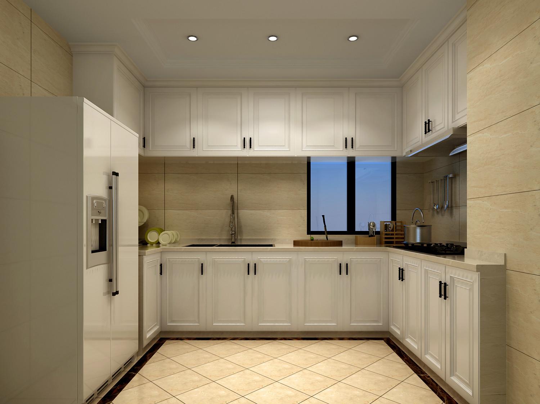 简欧风格厨房舒适120平米房子装修图片