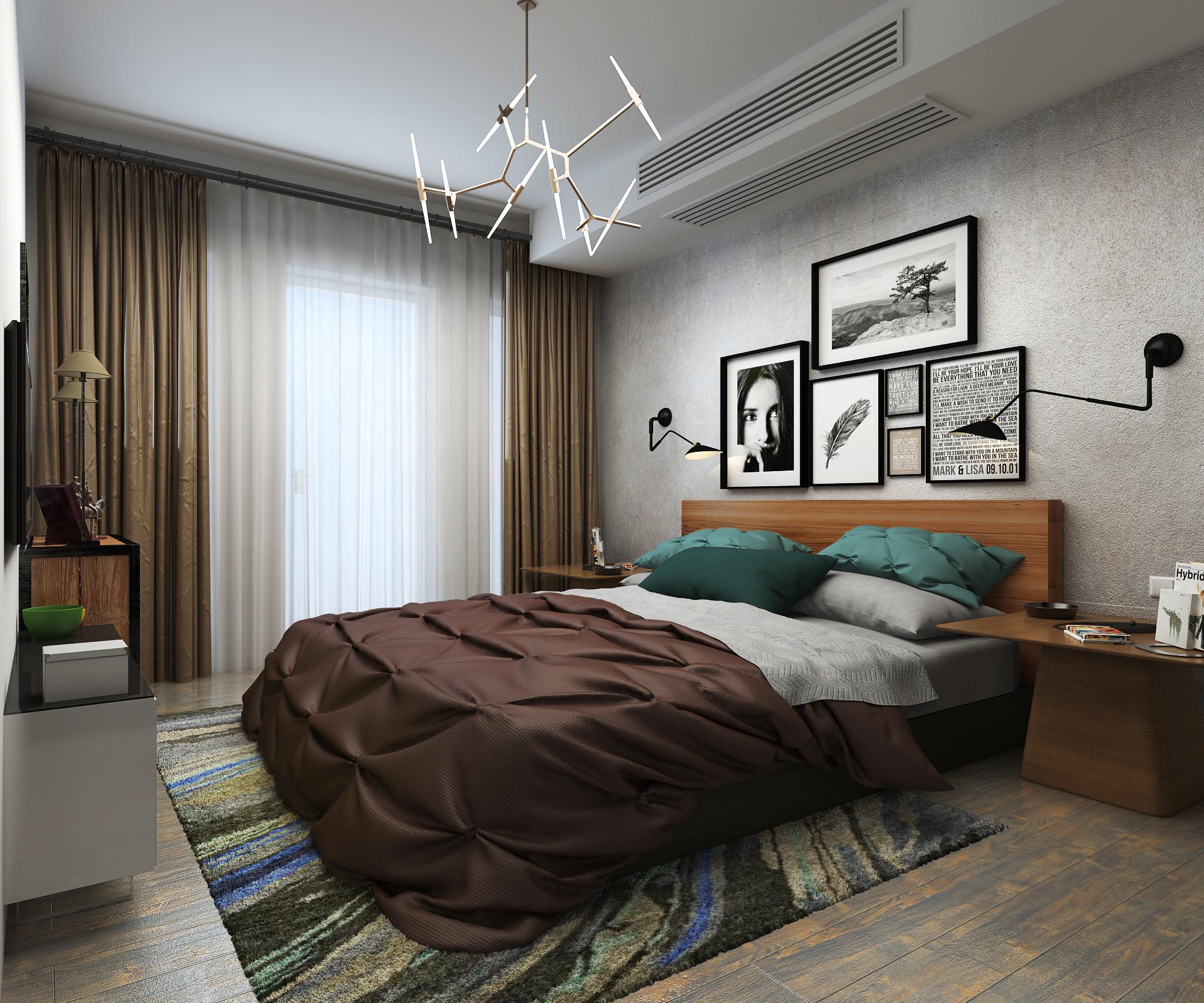 Loft风格装修卧室效果图