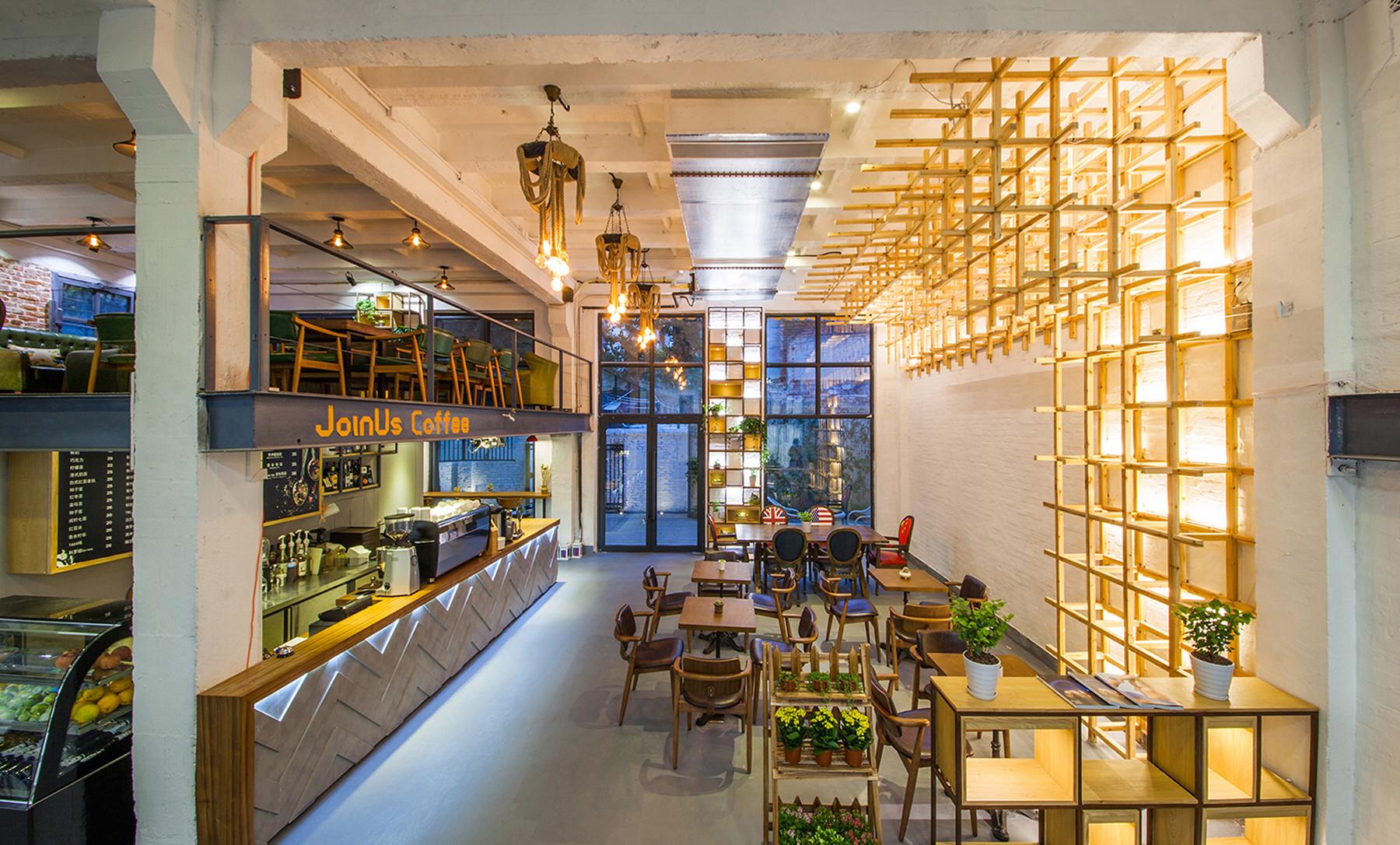 Loft风格咖啡厅装修一楼布置