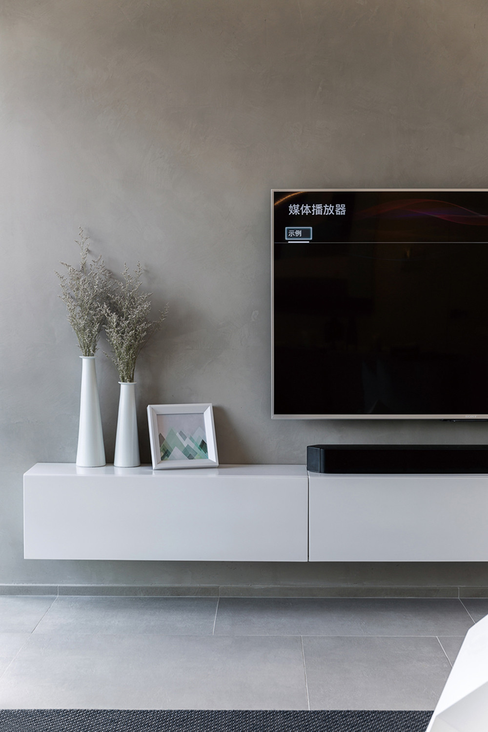 170平简约装修电视柜图片
