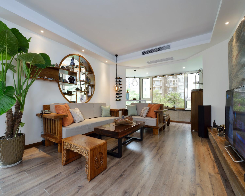 130平中式风格装修客厅搭配图