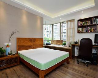 130平中式风格装修卧室布置图