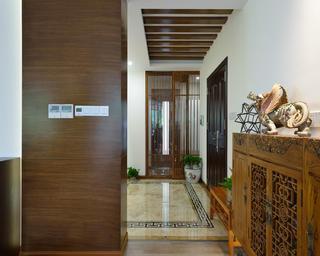 130平中式风格装修玄关设计