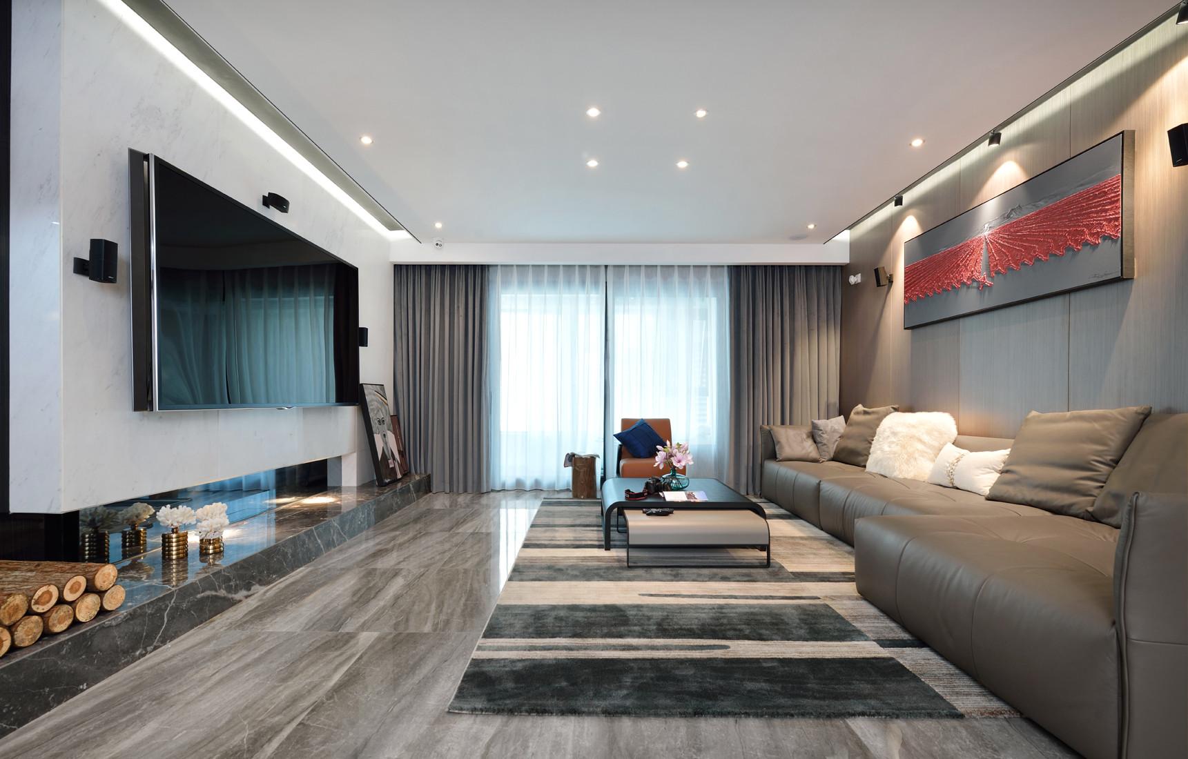 简约风格复式豪华型客厅沙发效果图