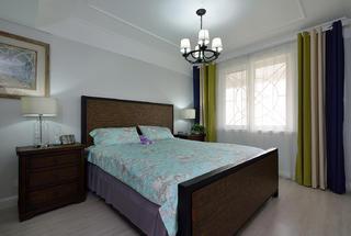 复式美式风格装修卧室搭配图