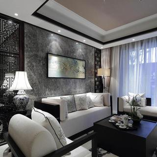 中式三居装修效果图 古香沉韵