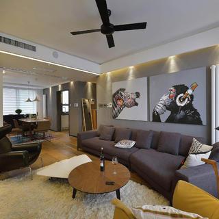 120平三居装修设计 简而宜家