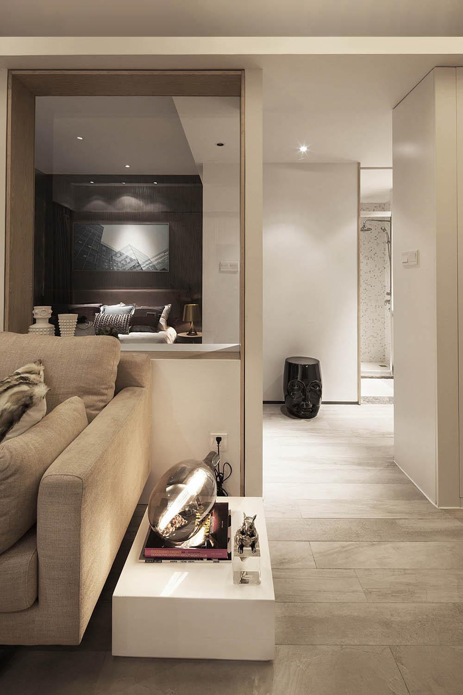 小户型北欧风格家沙发边桌图片
