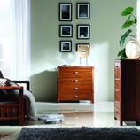 A家 现代中式风格 实木四斗柜