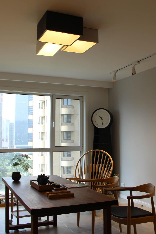 90平北欧装修客厅吊灯图片