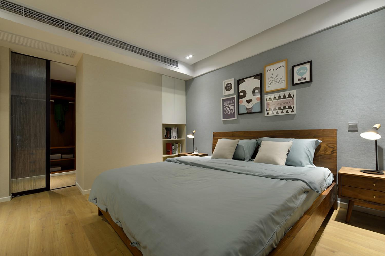 北欧风三居装修卧室设计图