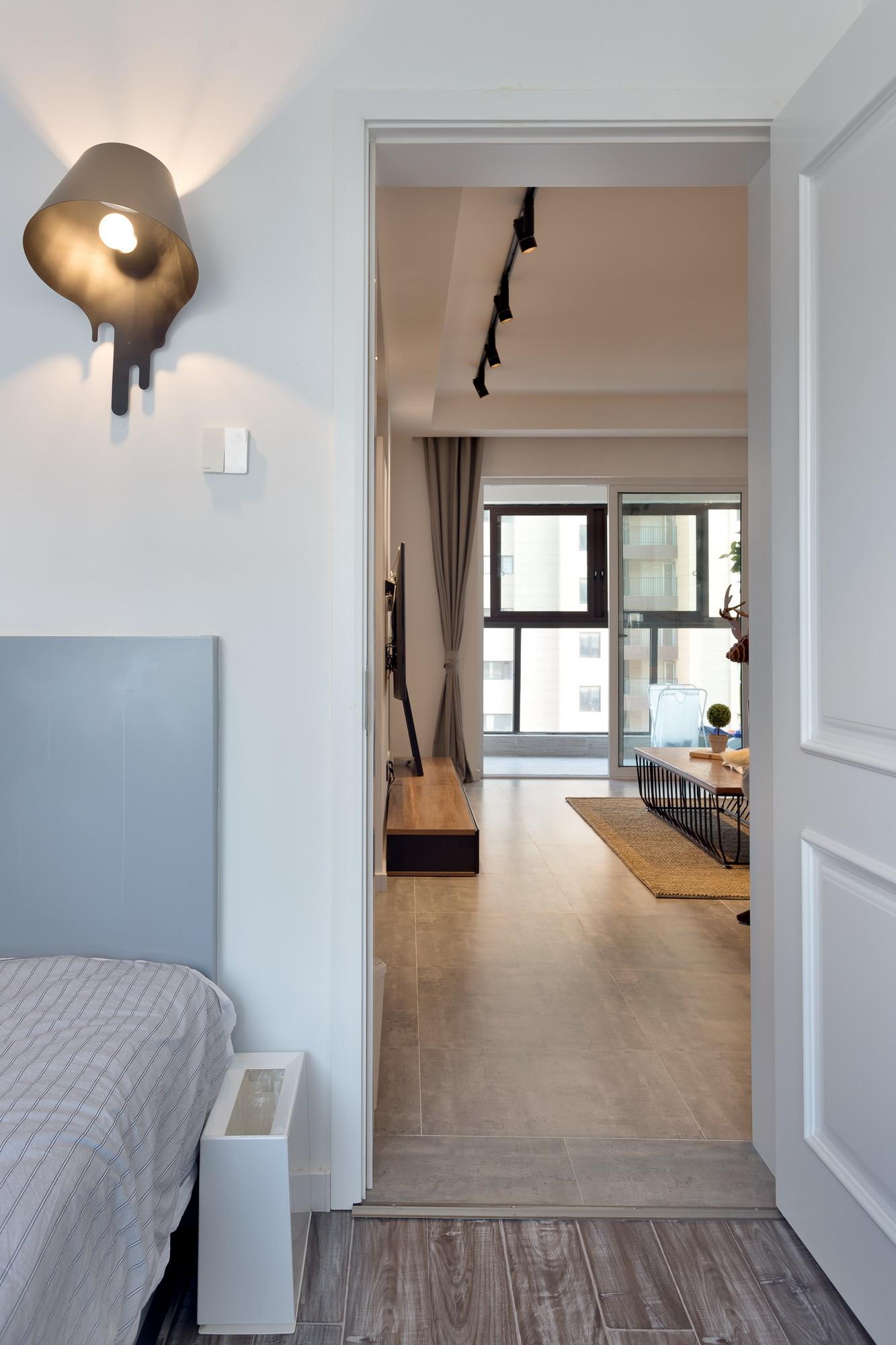 108平现代北欧之家卧室壁灯图片