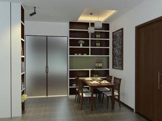 100㎡三居装修餐厅设计图