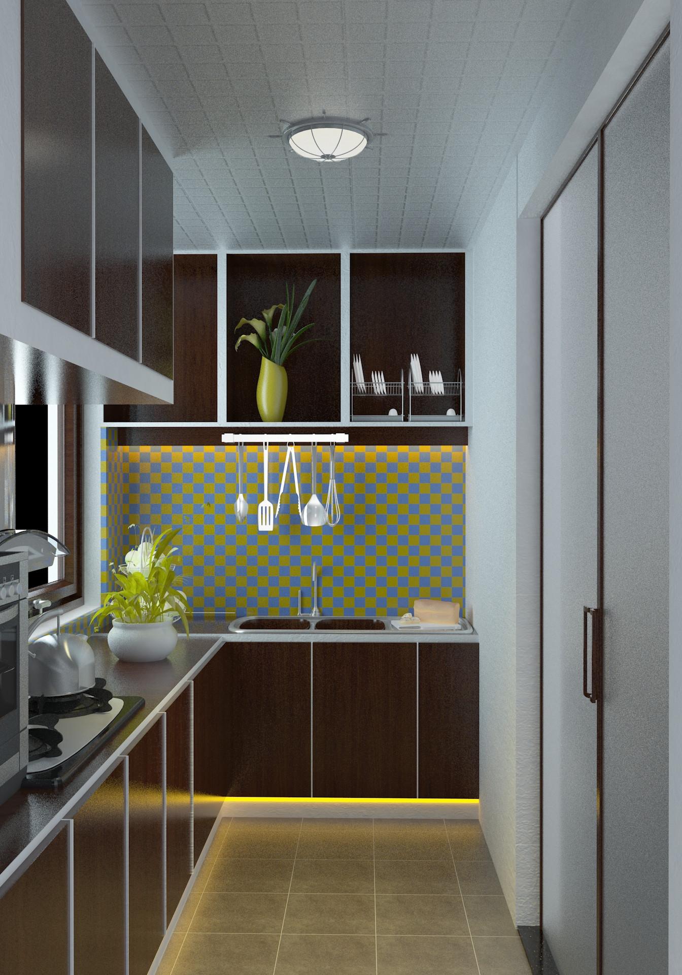 100㎡三居装修厨房效果图
