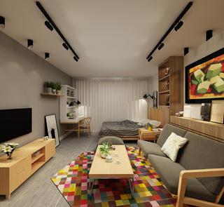 北欧小户型装修卧室布置图