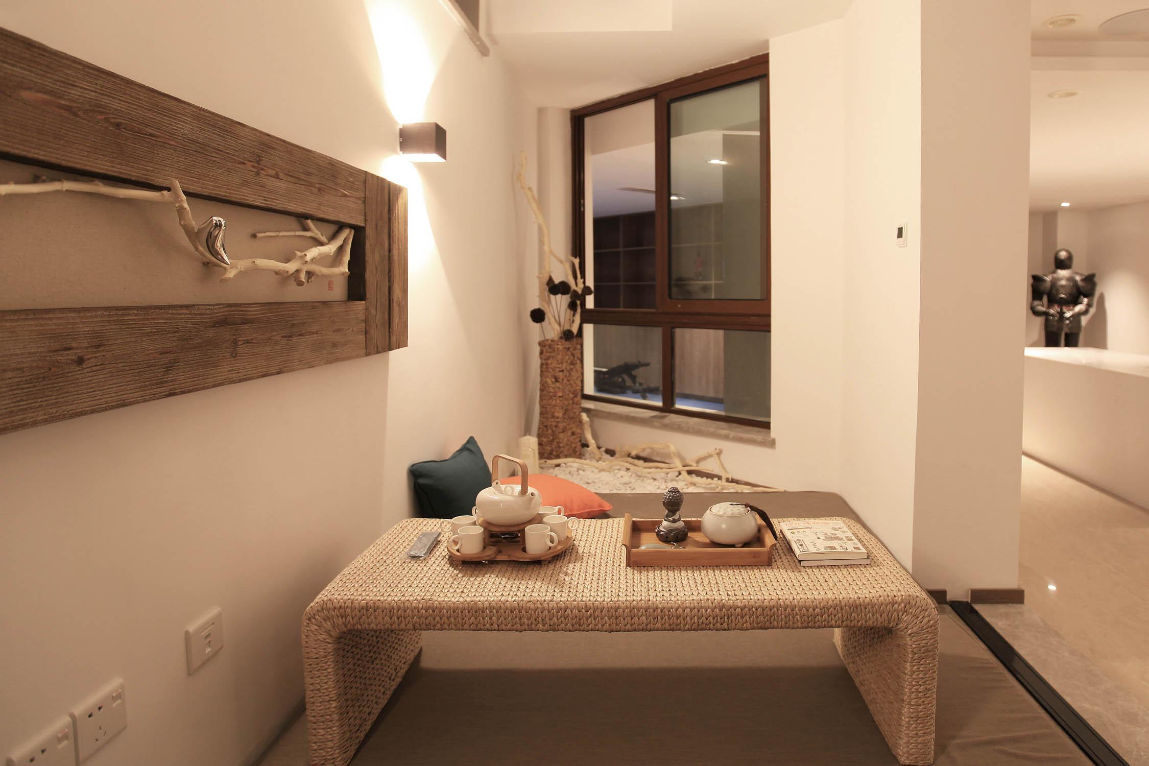 大户型现代风装修茶室