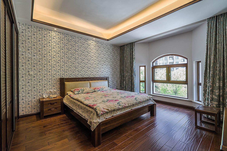 新中式小卧室百叶窗效果图图片