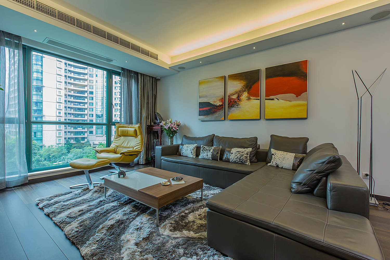 现代简约风格三居沙发图片