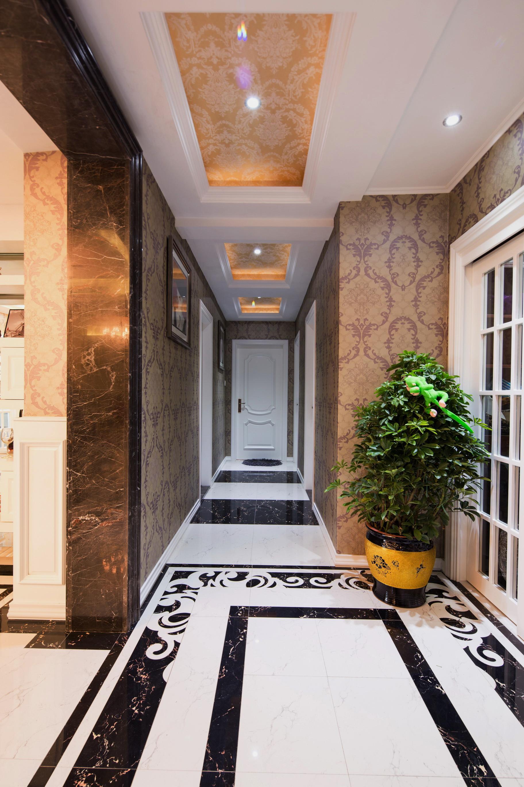 后现代风格别墅装修门厅过道