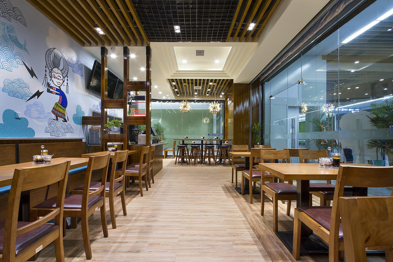 90平东南亚风格餐厅装修过道图片