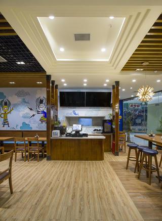 90平东南亚风格餐厅装修吊顶图片
