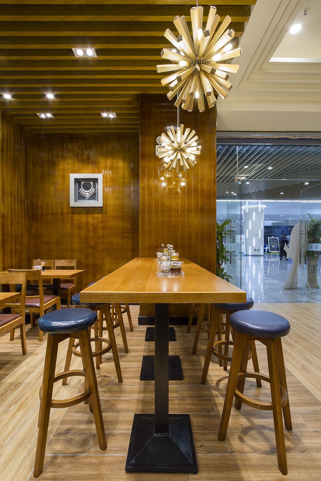 90平东南亚风格餐厅装修吧台区