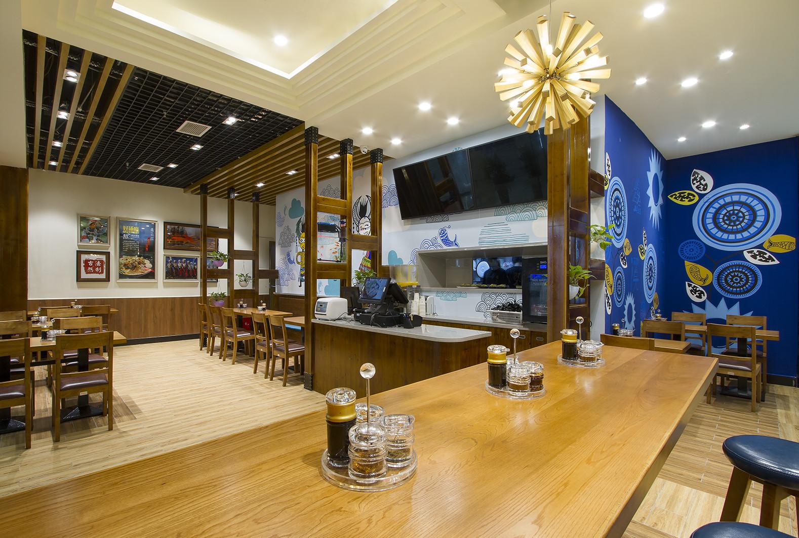 90平东南亚风格餐厅装修吧台图片