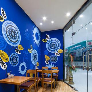 90平东南亚风格餐馆装修设计图