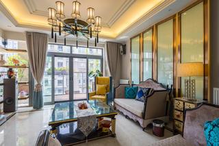 大户型中式风格家客厅设计图