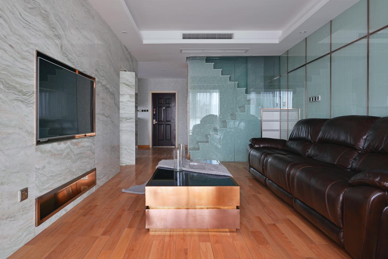 90平极简主义二居装修客厅效果图