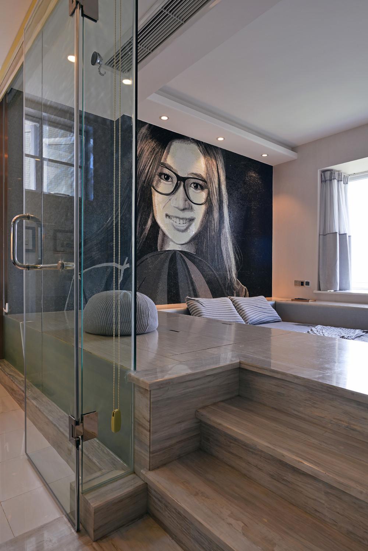 90平极简主义二居装修卧室设计图