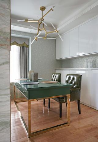90平极简主义二居装修餐厅设计图