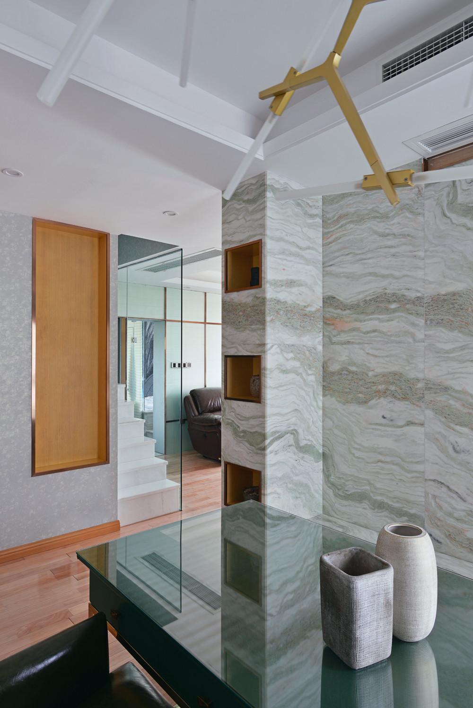 90平极简主义二居装修墙面壁龛设计