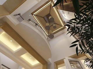 新古典欧式风情别墅装修茶室顶面造型设计