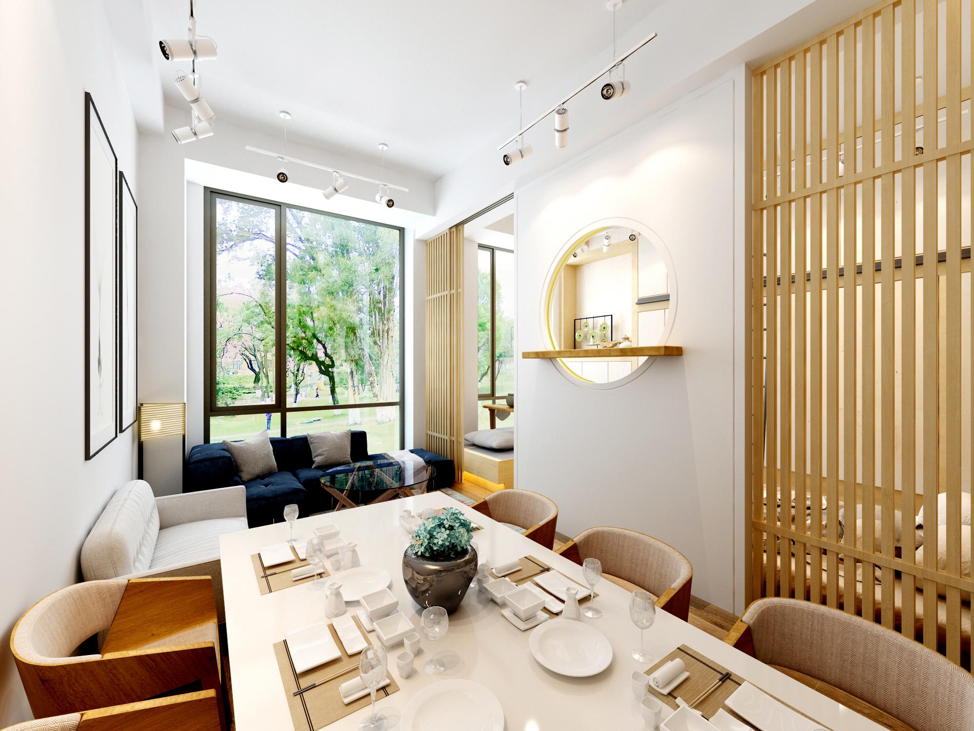 日式一居装修客厅效果图