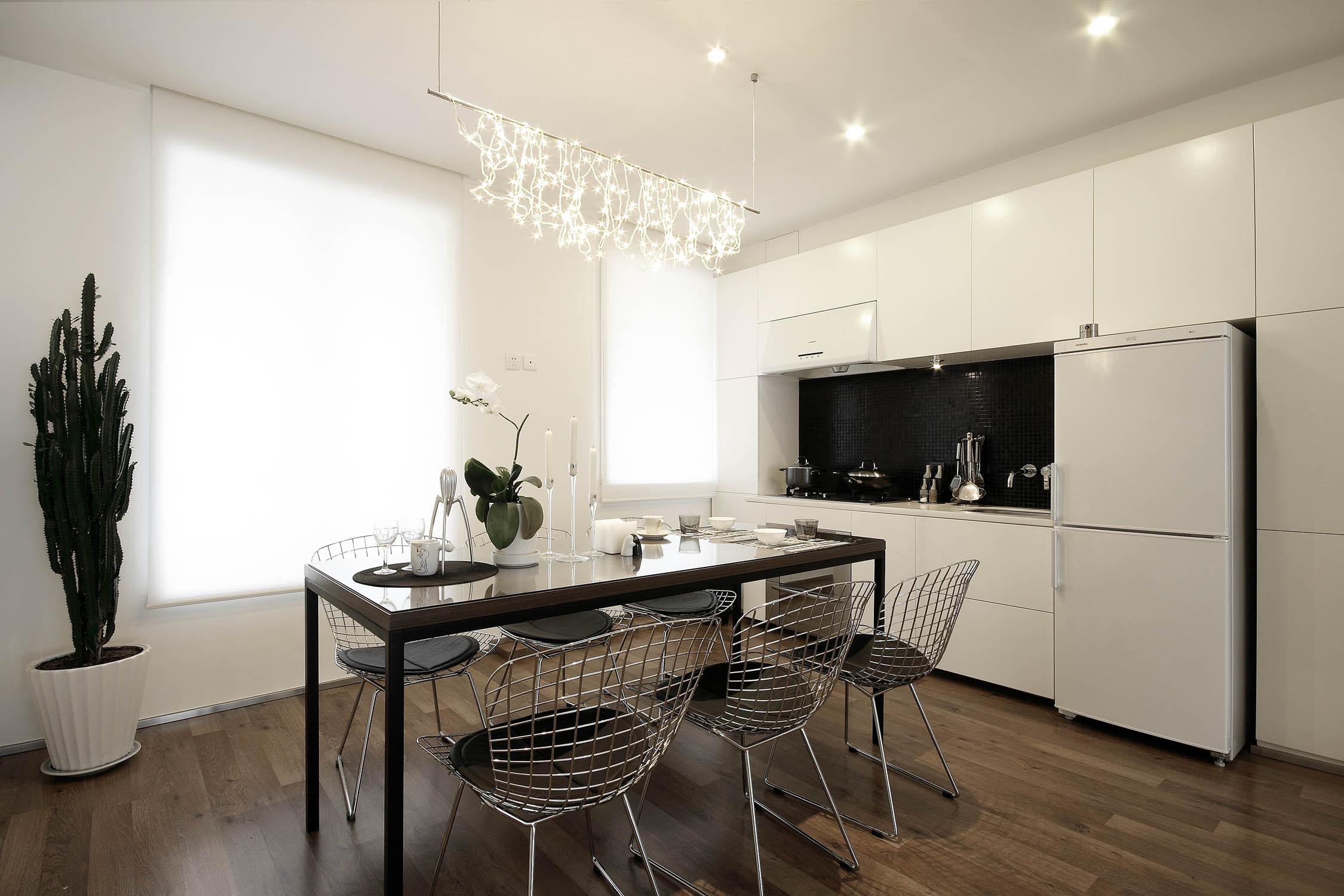 现代简约三居装修开放式厨房设计