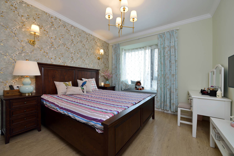 92㎡美式风格家卧室搭配图