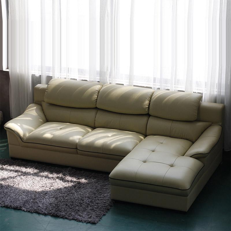 特价仅此一套真皮沙发头层牛皮沙发现代简约客厅组合家具转角沙发6023