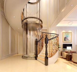 輕奢別墅樓梯空間裝修設計效果圖