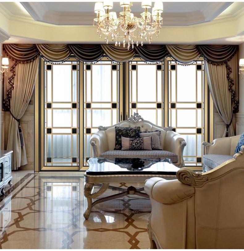 雷拓家居 歐式室內臥室滑動門 美式陽臺隔斷門 客廳玻璃移門定制