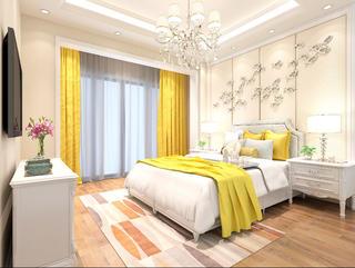 法式轻奢风格别墅装修次卧设计图