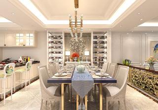 法式轻奢风格别墅装修餐厅设计图