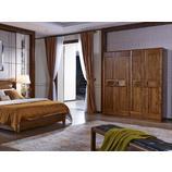 南洋迪克现代新派实木家具 乌金至品系列 四门衣柜1800*625*2100