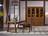 南洋迪克现代新派实木家具 乌金至品系列 四门分体书柜1856*446*2150