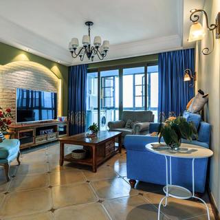 130平美式风格三居装修实景图