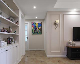 105平美式风格三居装修玄关端景