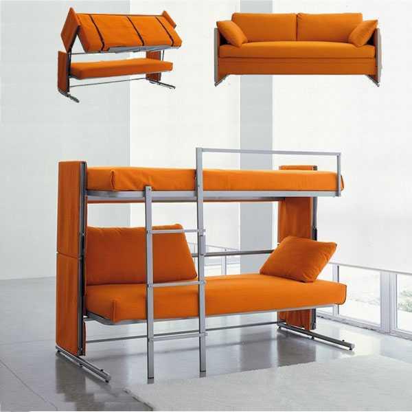 上下层床双层沙发床坐卧两用多功能沙发床简约型沙发床