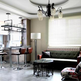 混搭二居装修设计 酷感趣味