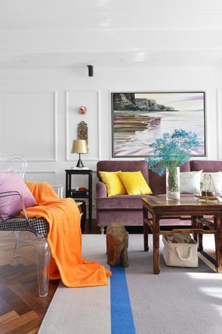 混搭三居之家沙发背景墙图片